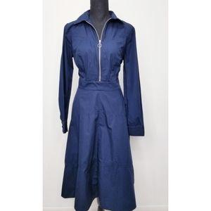 Eshakti blue longsleeve midi length flowy dress L